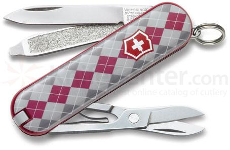 Victorinox Swiss Army Classic SD Multi-Tool, 2-1/4 inch Argyle Handles