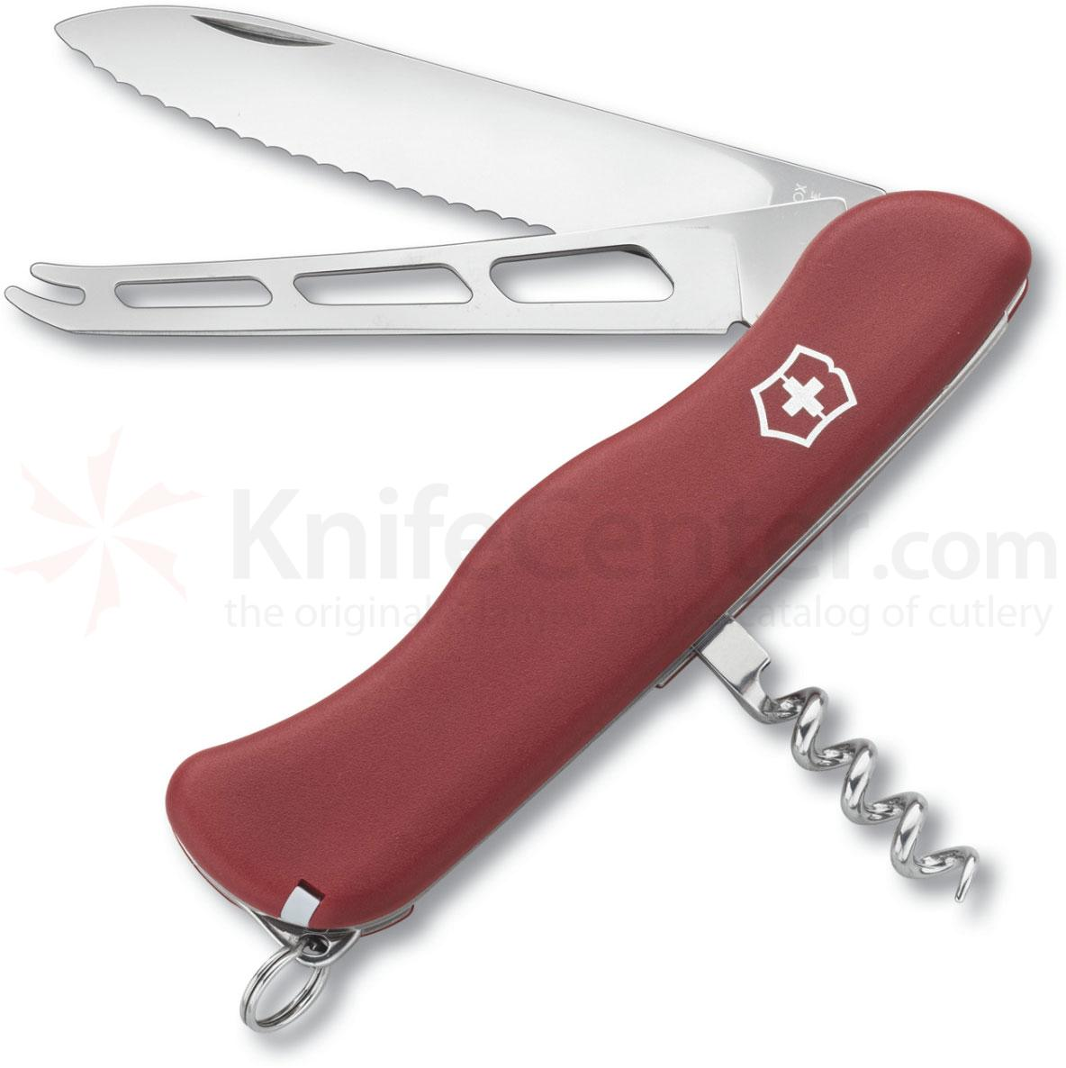 Victorinox Swiss Army 80833 Cheese Knife, 4-3/8 inch Red Handles