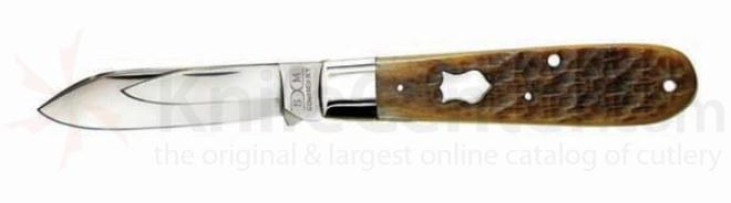 Schatt & Morgan 2011 Heritage Series 1196 Stag Bone Two Blade Jack, 3-3/8 inch Closed