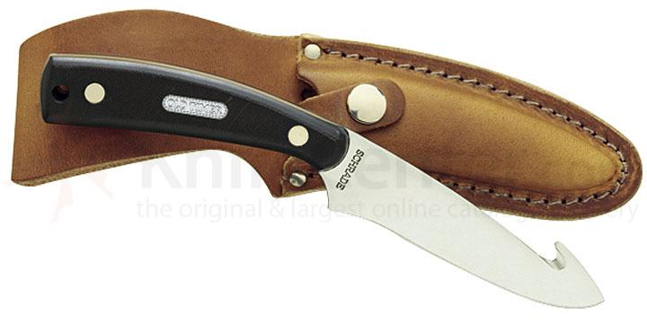 Schrade 158OT Old Timer Gut Hook Skinner Fixed 3-1/2 inch Blade with Gut Hook, Delrin Handle