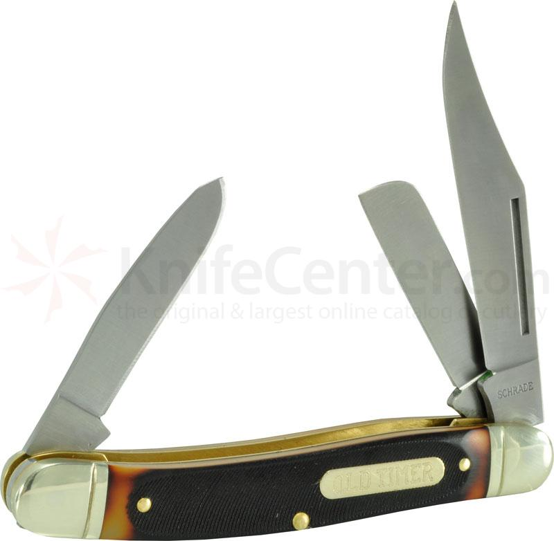 Schrade Old Timer Delrin Lumberjack Stockman 4.6 inch Closed