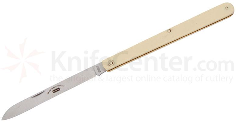 Schrade S105 Fruit and Melon Sampler Knife, Faux Ivory Handles