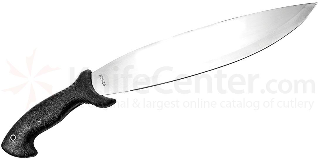 Schrade Bolo Machete 14 inch 3Cr13 Stainless Blade, Safe-T-Grip Handle, Ferro Fire Steel and Sharpening Stone