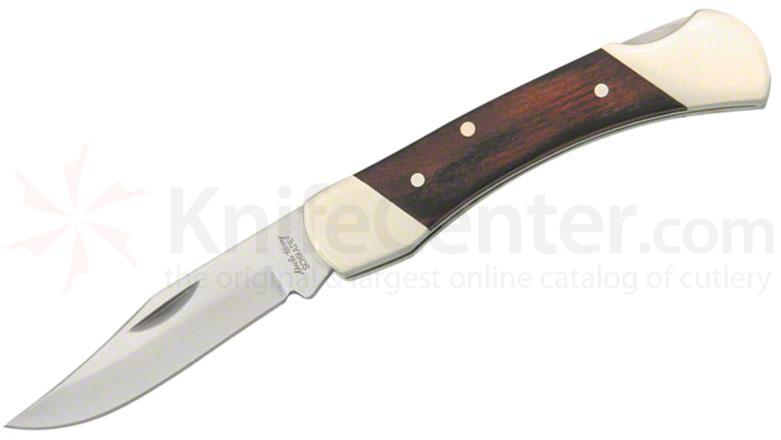 Schrade Uncle Henry 2.2 inch Brown Bear Lockback Folder, Rosewood Handles