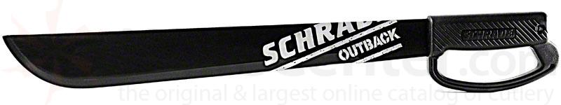 Schrade Outback 22 inch Large Machete Blade, Handguard, Hard Plastic Sheath