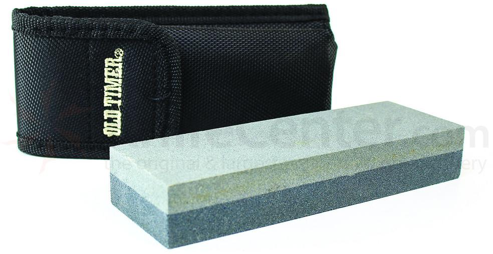 Schrade Old Timer  Double Sided Sharpening Stone 6 inch Overall, Nylon Sheath