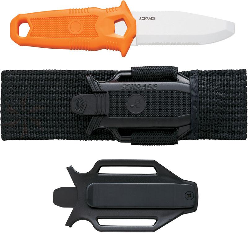 Schrade Extreme Water Rat (Orange) Dive Knife 3.2 inch Blunt Tip Blade