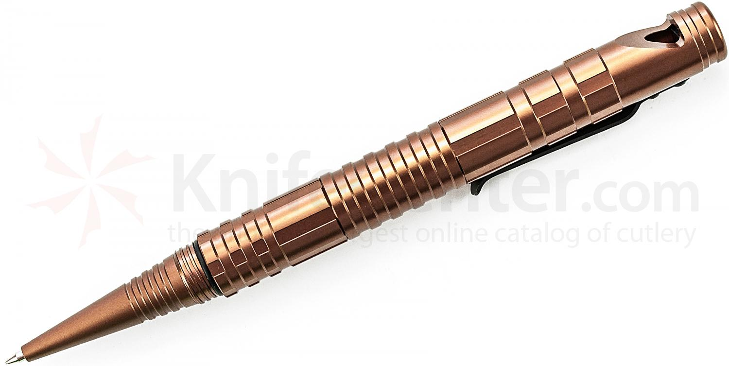 Schrade (Brown) Aluminum Tactical Survival Pen with Fire Steel, Striker & Whistle