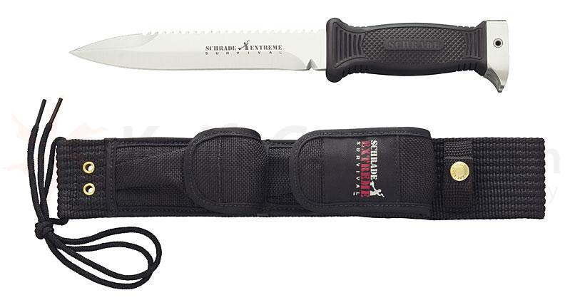 Schrade Extreme Survival Knife 7.1 inch Blade w/ Built in Hammer, Saw Nail Puller & More