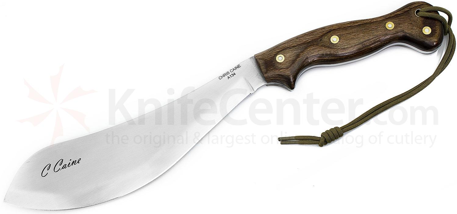 Scorpion Knives Chris Caine Special Edition  inchSignature inch Survival Tool, 10.5 inch Satin Parang Style Blade, Spiced Walnut Handle