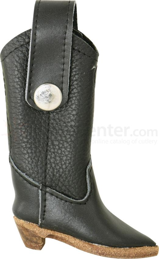 Carry All Cowboy Boot Leather Sheath (Black)