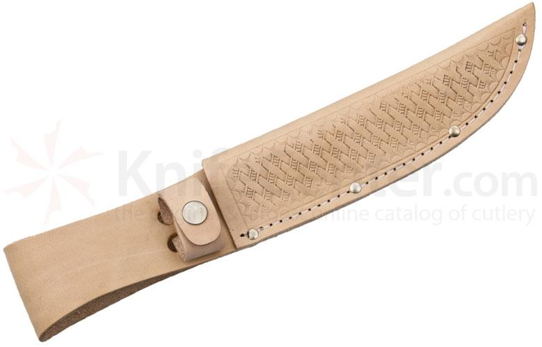 Basketweave Leather Sheath (Natural) Fits up to 6 inch Fixed Blade