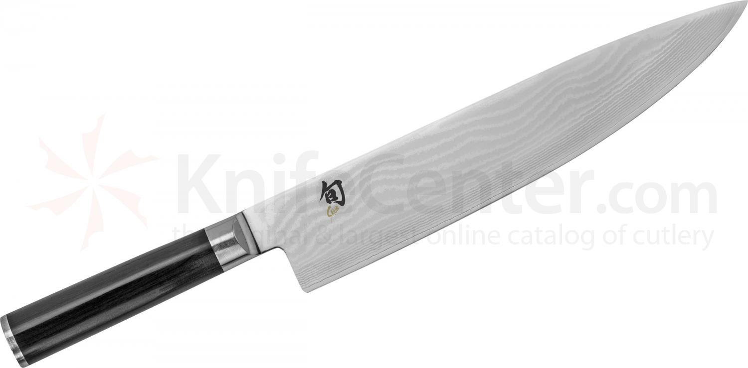 Shun DM0707 Classic Chef's Knife 10 inch Blade, Pakkawood Handle
