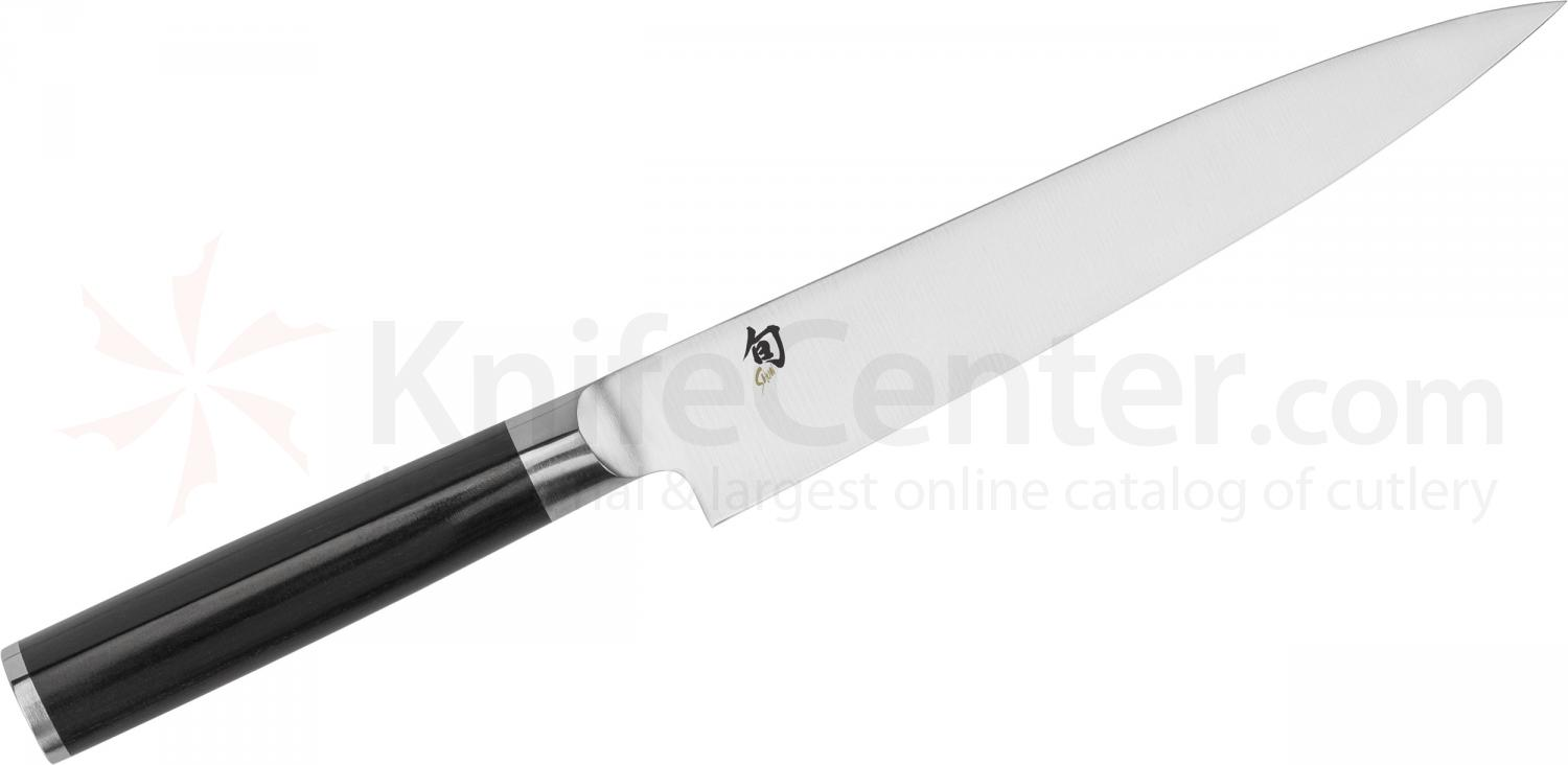 Shun DM0761 Classic Flexible Fillet Knife 7 inch Blade, Pakkawood Handle