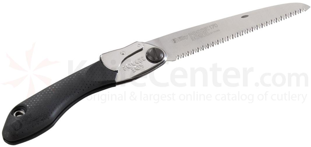 Silky Saws Pocketboy 170 Folding Saw, 6.7 inch Medium Teeth Blade, Rubber/Steel Handle