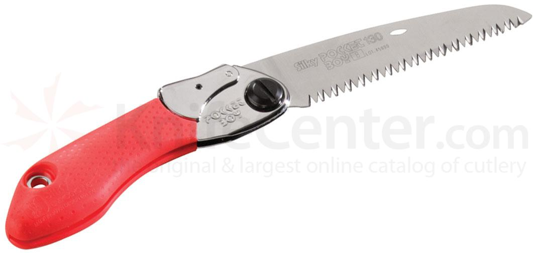 Silky Saws Pocketboy 130 Folding Saw, 5.1 inch Large Teeth Blade, Rubber/Steel Handle