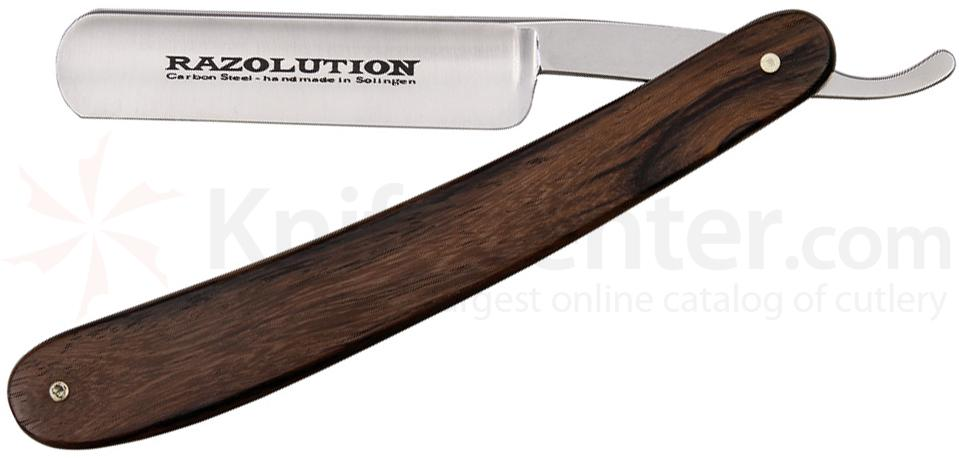 Simba Tec RAZOLUTION Straight Razor, 5/8 inch Carbon Steel, Rosewood Handle