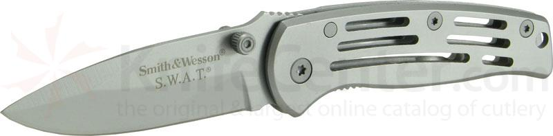 Smith & Wesson Baby Frame Lock SWAT Knife Plain Edge