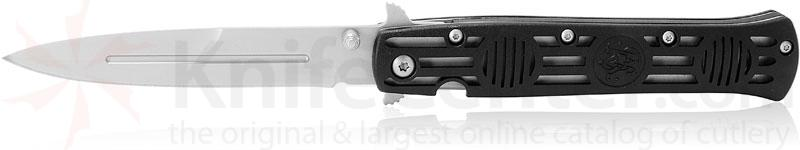 Smith & Wesson CK114 Dagger Folding Knife 4 inch Satin Plain Blade, G10 Handles