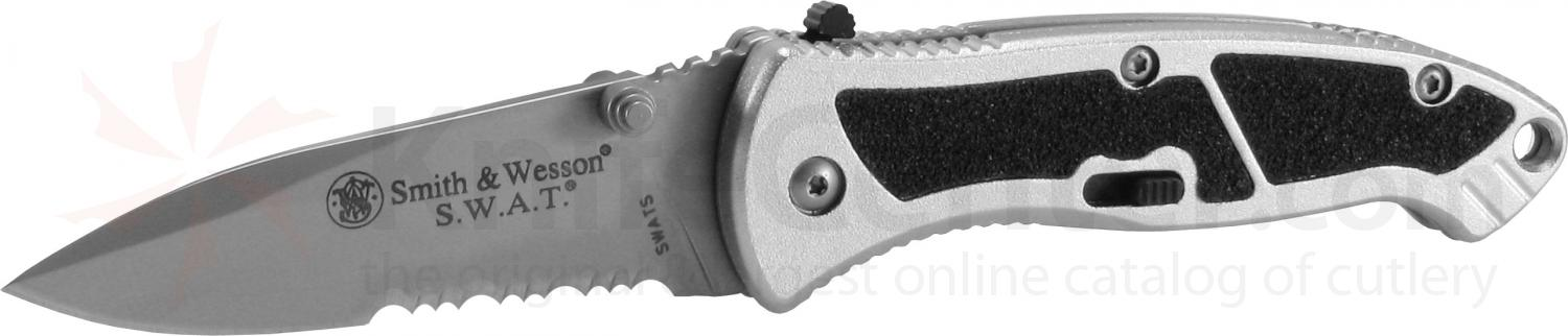 Smith & Wesson SWAT Assisted Opening Folder 2.5 inch Satin Combo Edge