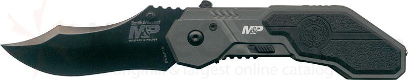 Smith & Wesson Military & Police MAGIC Assisted 2.9 inch Black Plain Drop Point Blade