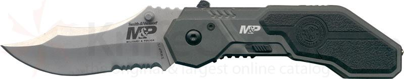 Smith & Wesson Military & Police MAGIC Assisted 2.9 inch Satin Combo Drop Point Blade