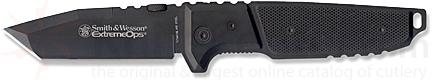 Smith & Wesson Extreme Ops Folder 4.2 inch Black Tanto Plain Blade