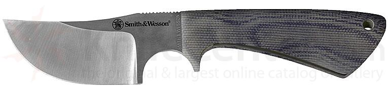 Smith and Wesson Skinner 2.5 inch Blade w/Micarta Handle & Leather Sheath