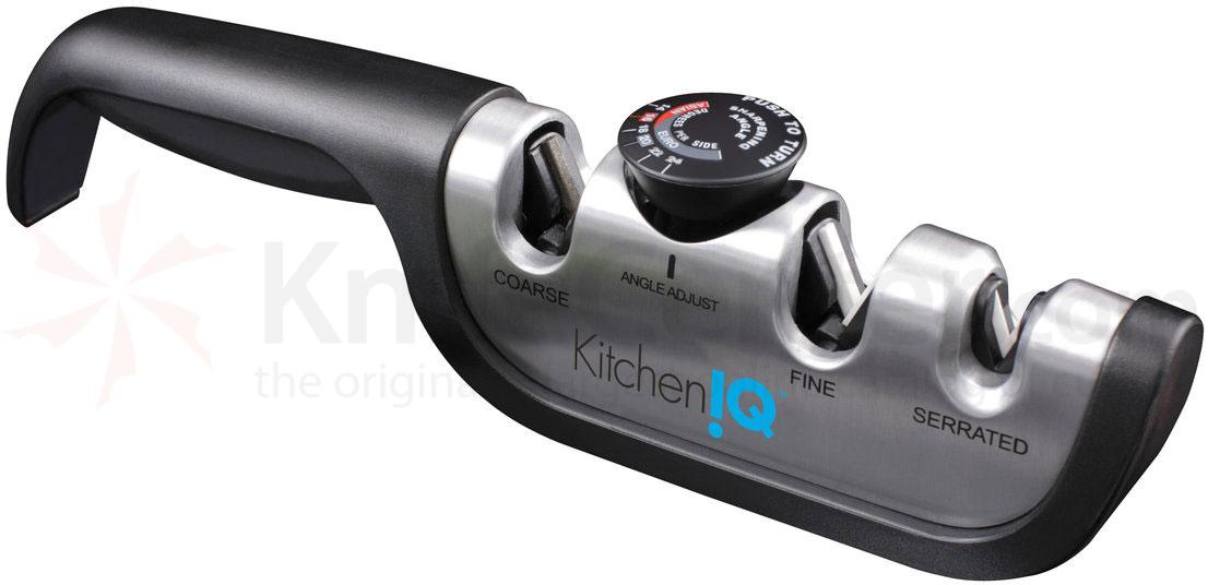 KitchenIQ by Smith's 50146 Angle Adjust Adjustable Manual Knife Sharpener