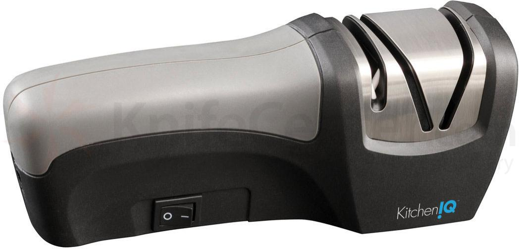 KitchenIQ by Smith's 50029 Edge Gourmet Compact Electric Knife Sharpener