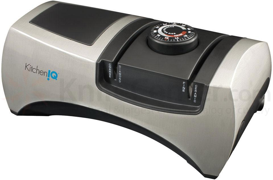 KitchenIQ by Smith's 50353 Angle Adjust Adjustable Electric Knife Sharpener