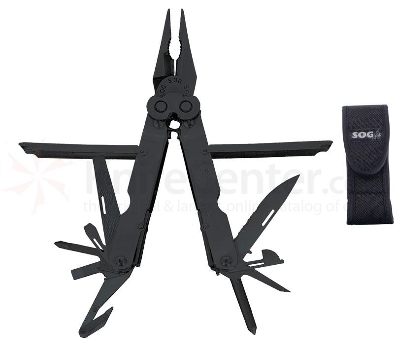 SOG PowerLock 2.0 EOD Black Oxide Finish Multi-Tool with Nylon Sheath