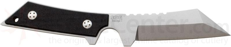 SOG Swedge I Combat Knife 3.7 inch Fixed Besh Wedge Blade, G10 Handles