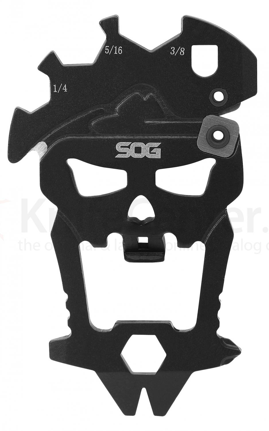 SOG SM1001 MacV Tool, 12 Component Skull Multi-Tool, 2.5 inch Overall