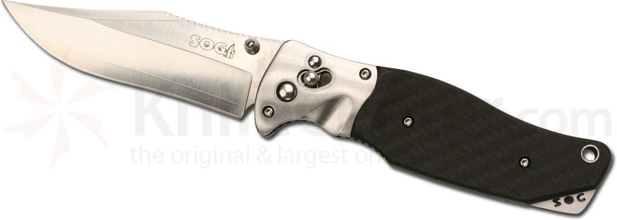 SOG Tomcat 3.0 with 3-3/4 inch VG10 Steel Blade, Carbon Fiber Handle, Nylon Sheath