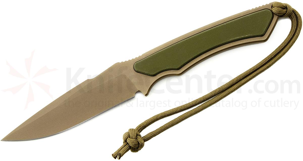 Spartan Blades Phrike Combat Knife 4-1/4 inch S35VN FDE Blade, Green G10 Handles, Multi-Cam MOLLE Sheath