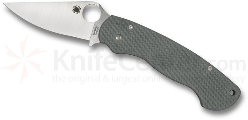 Spyderco Paramilitary Foliage Green G10 Handle 3-3/32 inch CPM-D2 Plain Edge