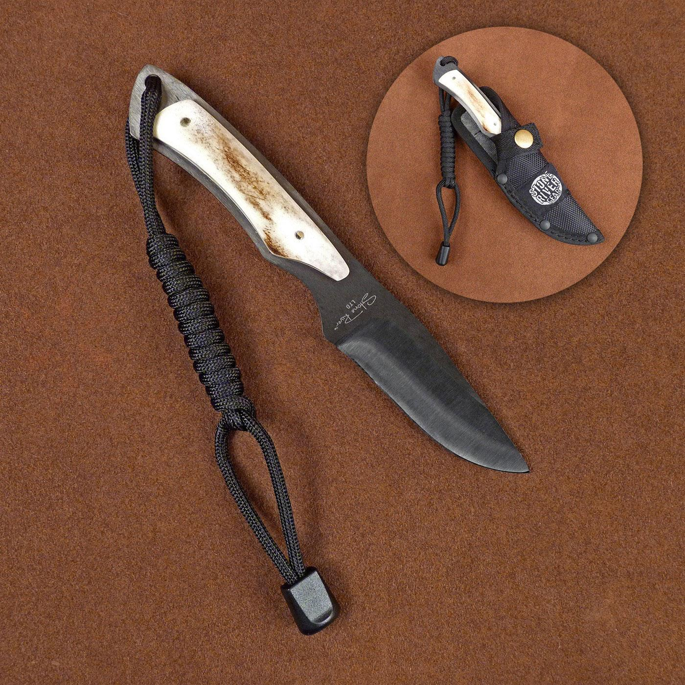 Stone River Gear Fixed 3 Quot Black Ceramic Blade Stag