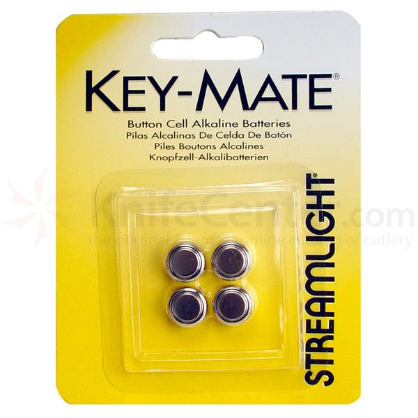 Streamlight 4 Pack Replacement Batteries for KeyMate