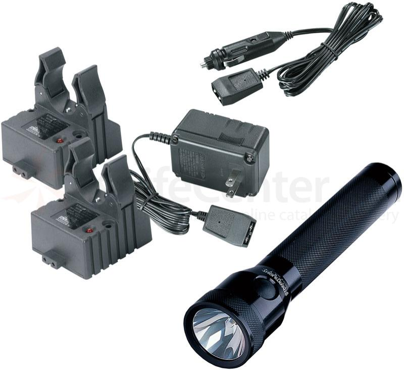 Streamlight Stinger Rechargeable Xenon Flashlight, AC/DC Steady Charger, 2 Holders