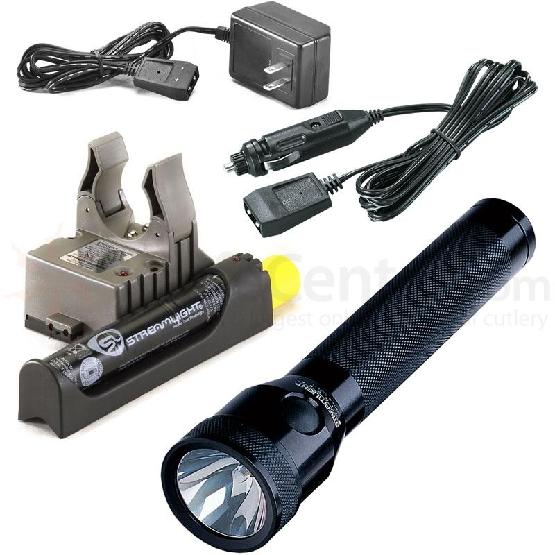 Streamlight Stinger Rechargeable Xenon Flashlight, AC/DC Fast Charger PiggyBack Holder