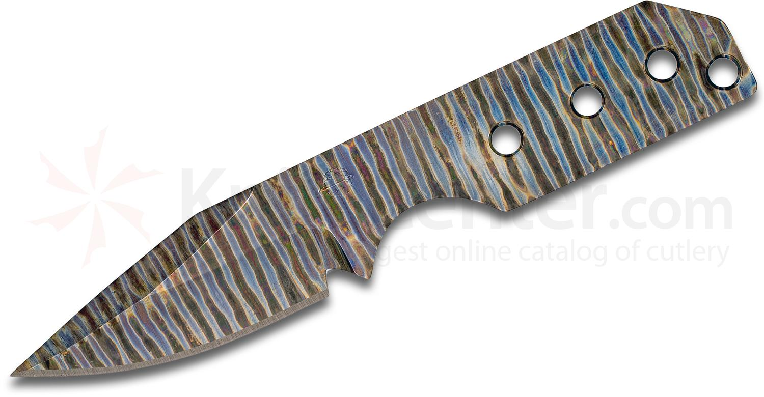 Strider Knives PR Neck Knife 2.75 inch Flamed Titanium Clip Point Blade, Kydex Sheath