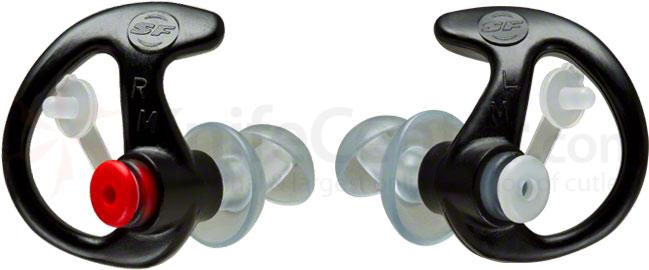 SureFire EP3 Sonic Defender Earplugs, Medium, Black, 1 Pair