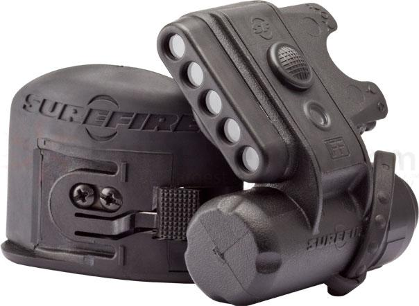 SureFire Black LED Helmet Light, 19.2 Max Lumens
