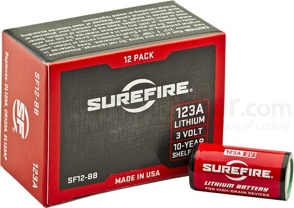 SureFire SF12-BB Box of 12 SureFire 123A Lithium Batteries