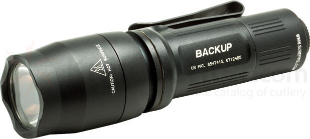 SureFire E1B Backup Ultra Compact Dual-Output LED Flashlight, Black, 110 Max Lumens