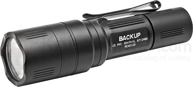 SureFire EB1T-A Backup Dual-Output LED Tactical Switch Flashlight, Black, 200 Max Lumens