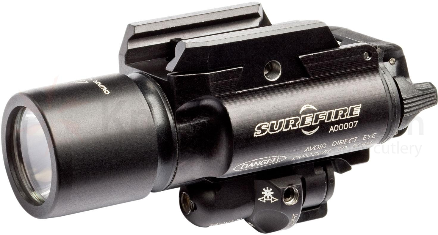 SureFire X400 Ultra — Green Laser LED Handgun / Long Gun WeaponLight with Laser, 500 Lumens (X400U-A-GN)