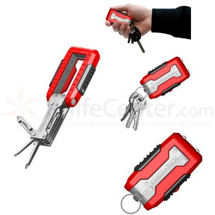 Swiss+Tech Transformer 11-in-1 Key Ring Tool Screwdriver Set with LED Lights