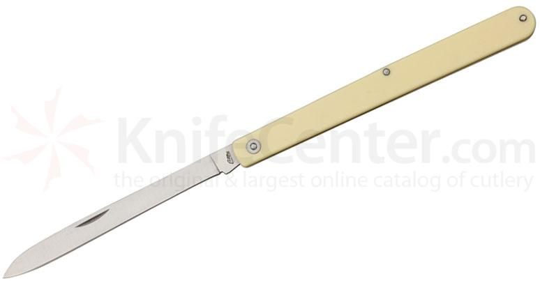 SZCO Harvest Fruit Knife Folding 4-5/8 inch Spear Point Blade, Alabaster Handles